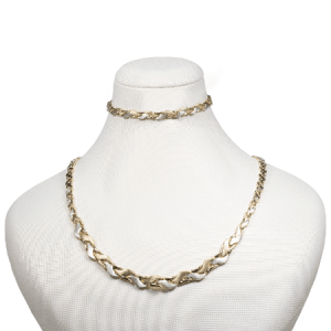 14k Two Tone Gold Necklace - ID A966
