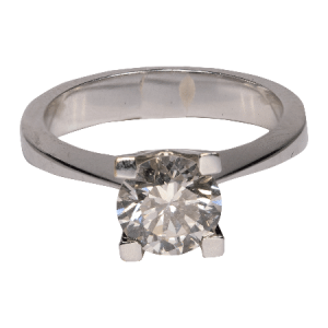 14k White Gold Cz. Ring - ID: A261