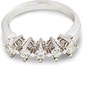 14k White Gold Cz.Ring - ID: A886
