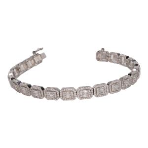 14k White Gold and Diamond Bracelet - ID: P247