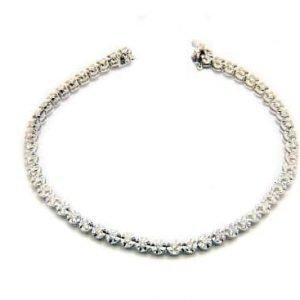 18K White Gold and Diamond Bracelet - ID P500