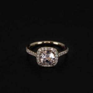 18k Rose Gold Diamond and Morganite Ring - ID P415