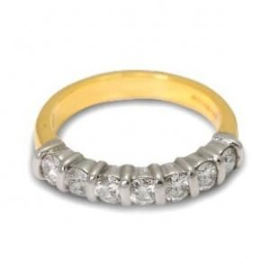 18k Two tone Gold Diamond Eternity Ring - ID P216