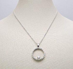 18k White Gold Diamond Necklace - ID P273