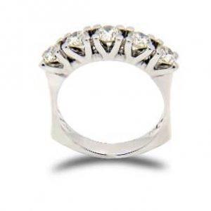 18k White Gold Diamond Ring - ID: P228
