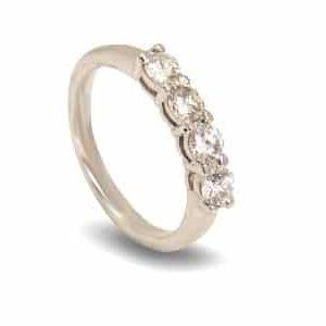 18k White Gold Diamond Ring - ID P39