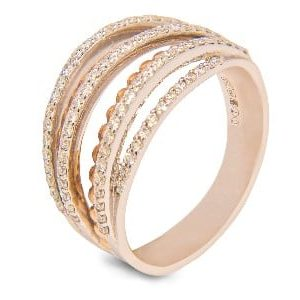 18k White and Rose Gold Diamond Ring - ID: P254