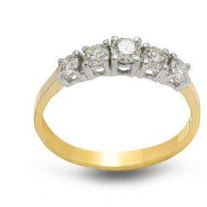 18k Yellow Diamond Eternity Ring - ID: P468