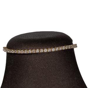 18k Yellow Gold Diamond Necklace - ID P255