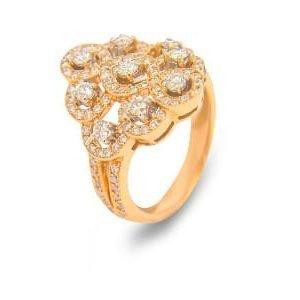 18k Yellow Gold Diamond Ring - ID: P208