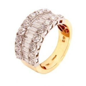 18k Yellow Gold Ladies Dress Ring- ID PLM