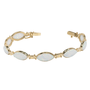 9K Yellow Gold Bracelet with Opal - ID: A1048