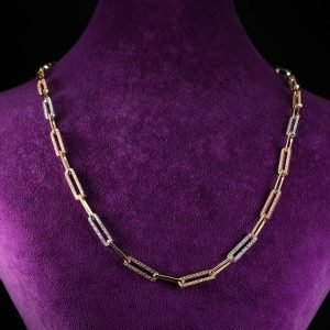 14k Three Tone Gold Necklace