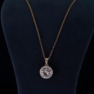 18k Rose Gold Diamond and Morganite Necklace ID P42