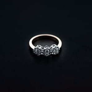 18k Rose Gold and Diamond Ring - ID: P483