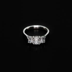 950 Platinum and Diamond Engagement Ring - ID: P353