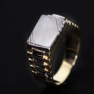 9k Two tone Gents Gold Ring ID:1162 Price:1055,00€