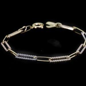 14k Three Tone Gold Bracelet - ID: A1128