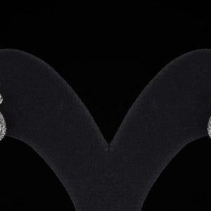 18k Pear Shape White Gold and Diamond Earrings - ID: P701