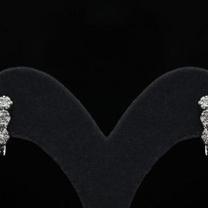 18k White Gold and Diamond Earrings - ID: P627
