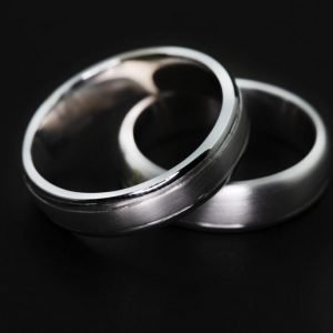 9k White Gold Wedding Band - ID: A1288