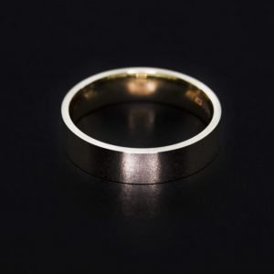 9k White Gold Wedding Band Ring - ID: A000