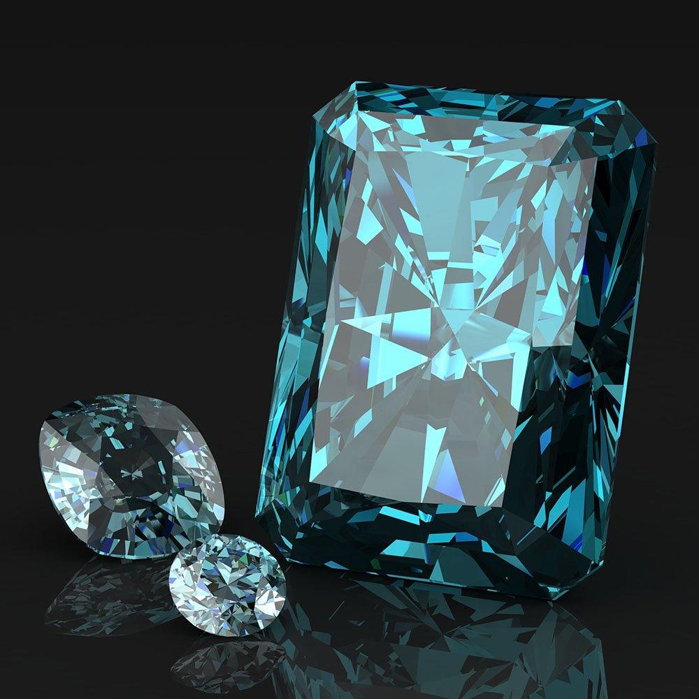 Birthstone, aquamarine gemstone